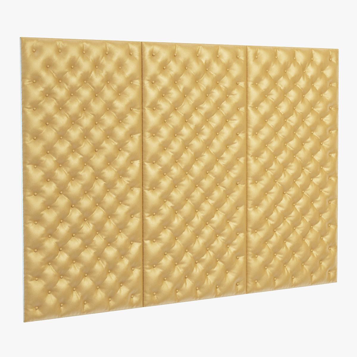 Decorative wall yellow panel 3D | CGTrader