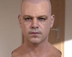3d model Matt Damon head 3D Model