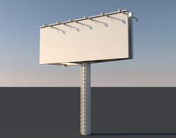 3D model low-poly billboard