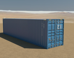 40ft Container 3D rigged