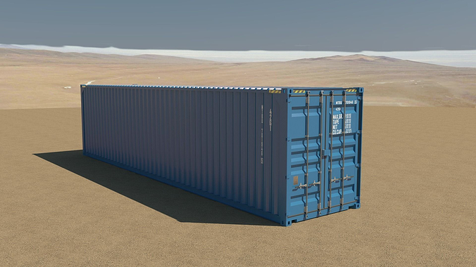 40ft container 3d model obj mtl 3ds fbx c4d tga 1