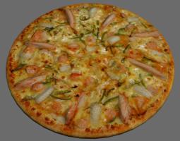 Pizza seafood 3D model