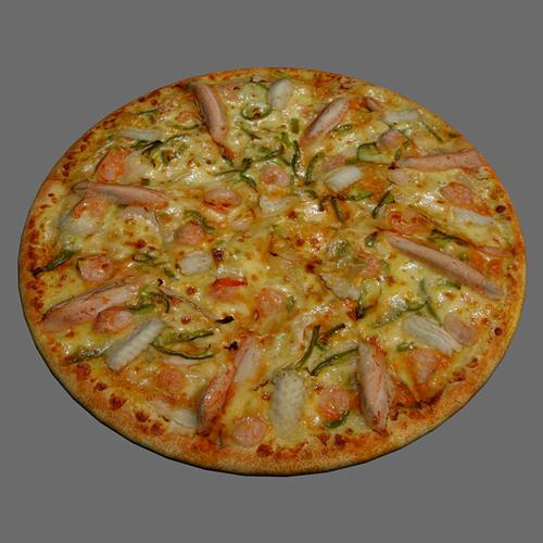 pizza seafood 3d model max obj mtl 1