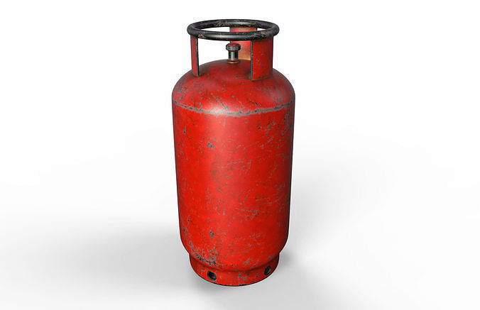 3D model Gas canister