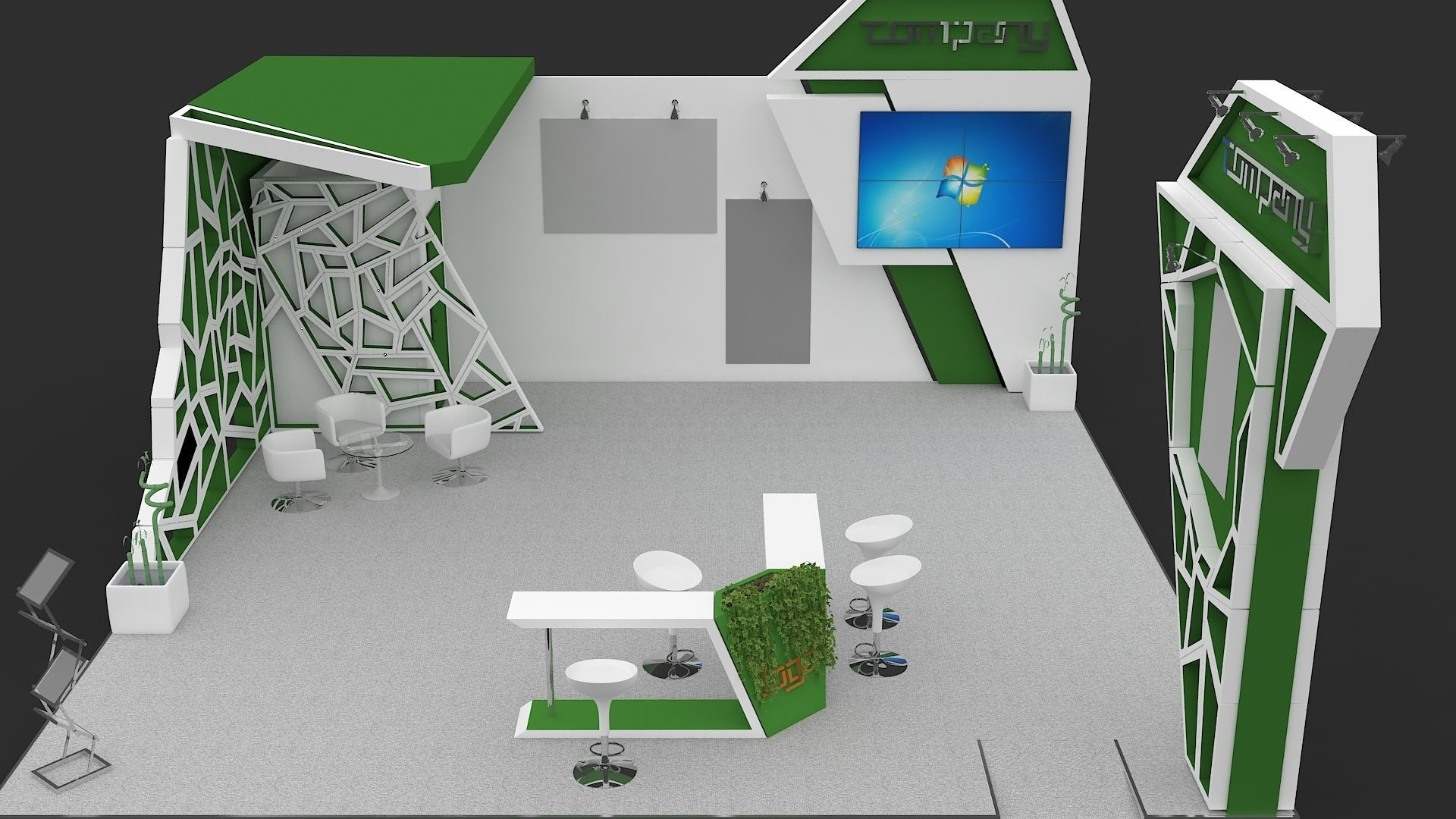 Exhibition Stall 3D Model