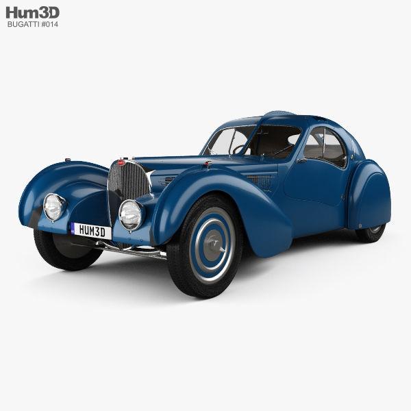 Bugatti Type 57SC Atlantic with HQ interior 1936