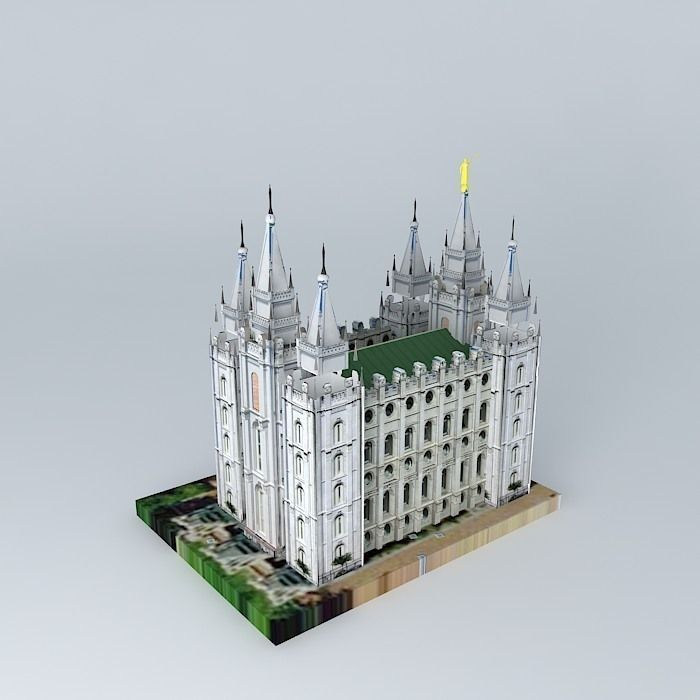 Mormon temple salt lake city 3d model cgtrader - Interior solutions salt lake city ...