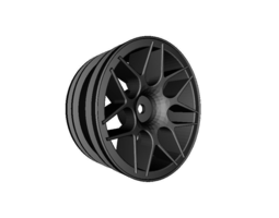 3d printable model rc car drift wheel lemans no3 width 24mm offset 0mm