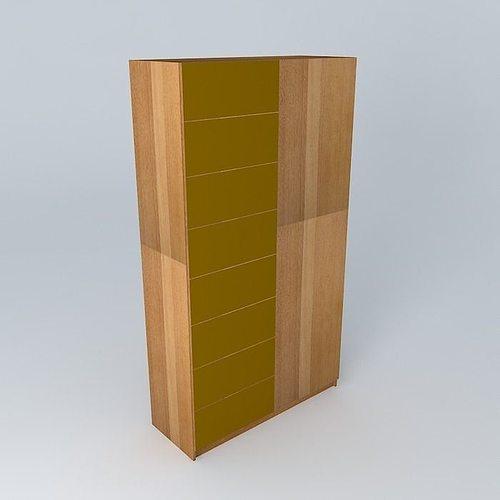 Wooden wardrobe 3d model cgtrader for 3d wardrobe planner