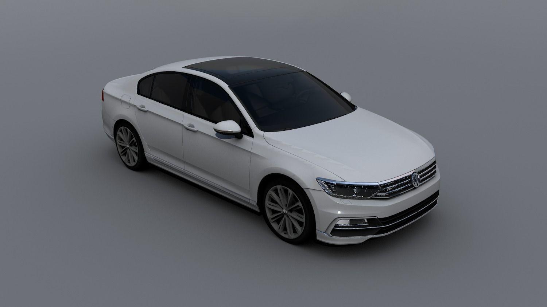 volkswagen passat b8 2016 r line 3d model cgtrader. Black Bedroom Furniture Sets. Home Design Ideas