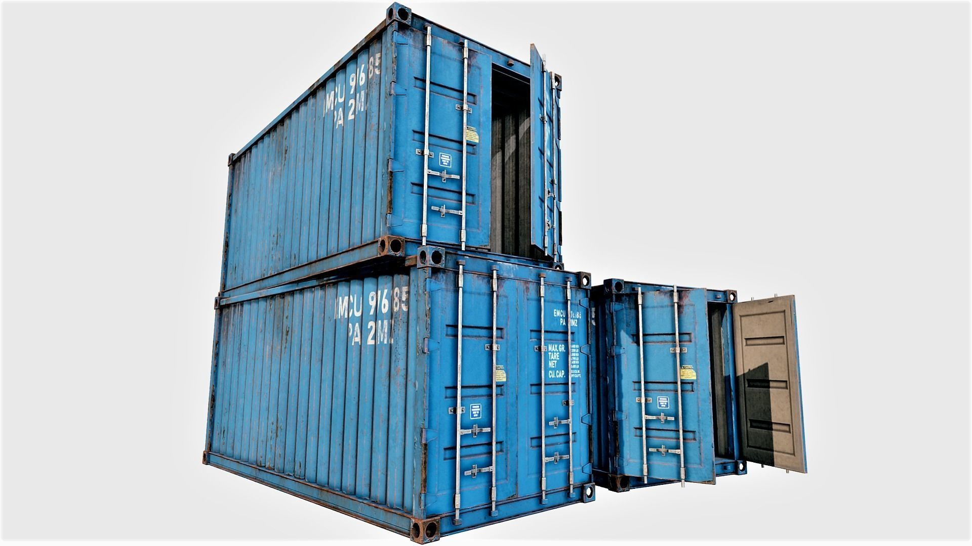 Enterable Shipping Container 03 - PBR