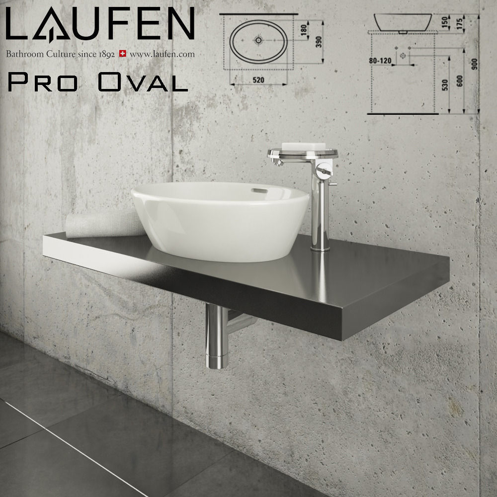 laufen pro oval 812964 3d model max obj. Black Bedroom Furniture Sets. Home Design Ideas