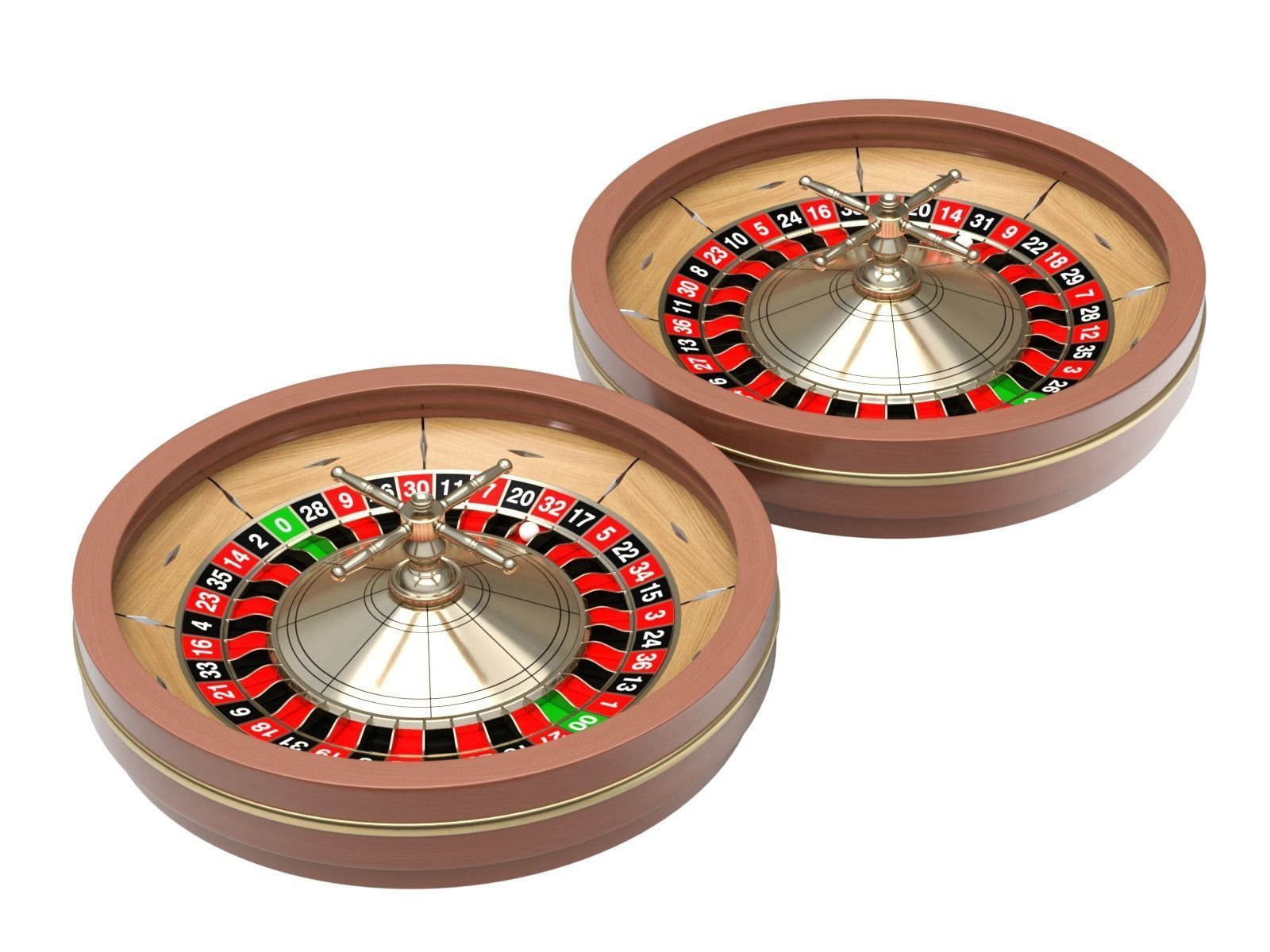 American and European Roulette Wheel