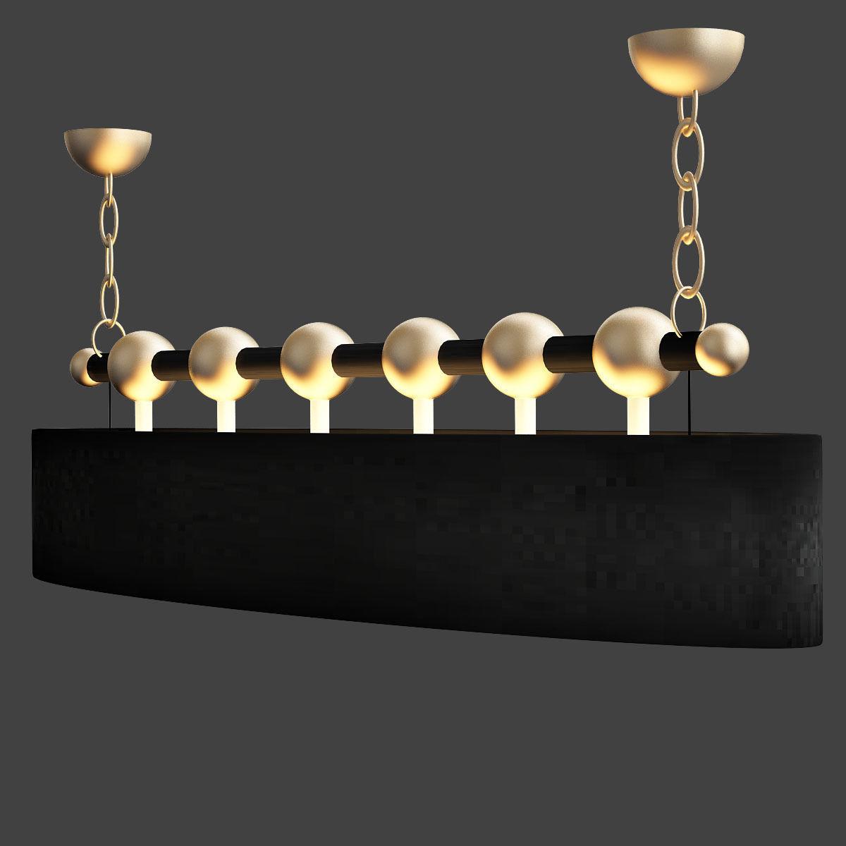 Currey Company Lighting Stillman Oval Chandelier Model