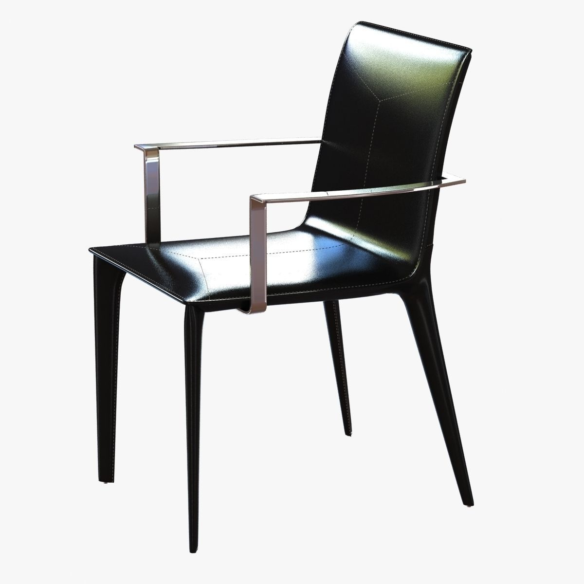3D holly hunt adriatic dining arm chair | CGTrader