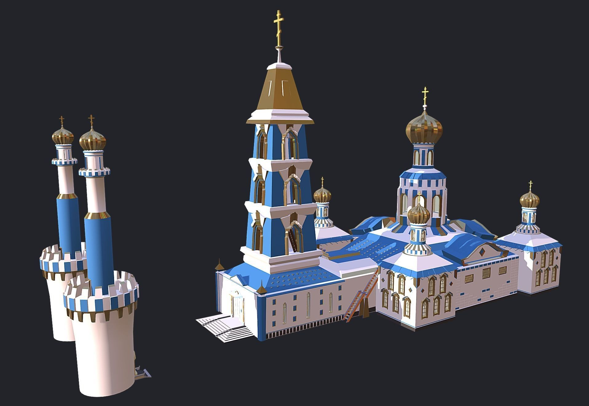 Russian CATHEDRAL - CHURCH - TEMPLE
