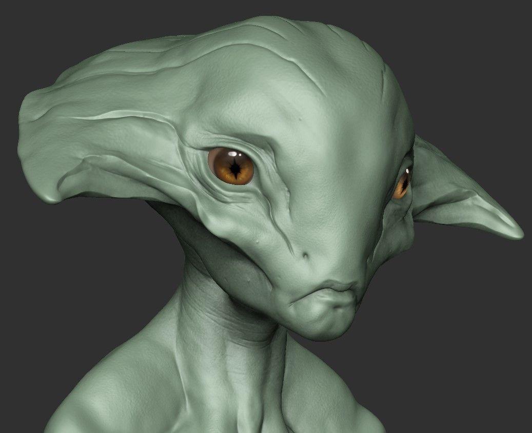 alien head model