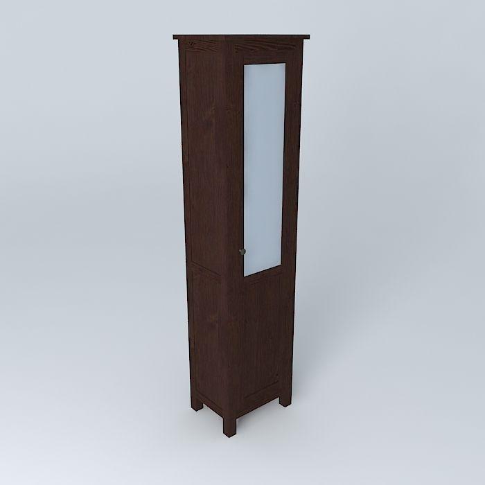 Hemnes Cabinet Panel Glass Door Free 3d Model Max Obj 3ds