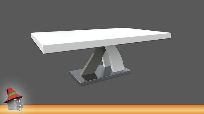 Axara Coffee Table Rectangular In White And Grey High Gloss PBR
