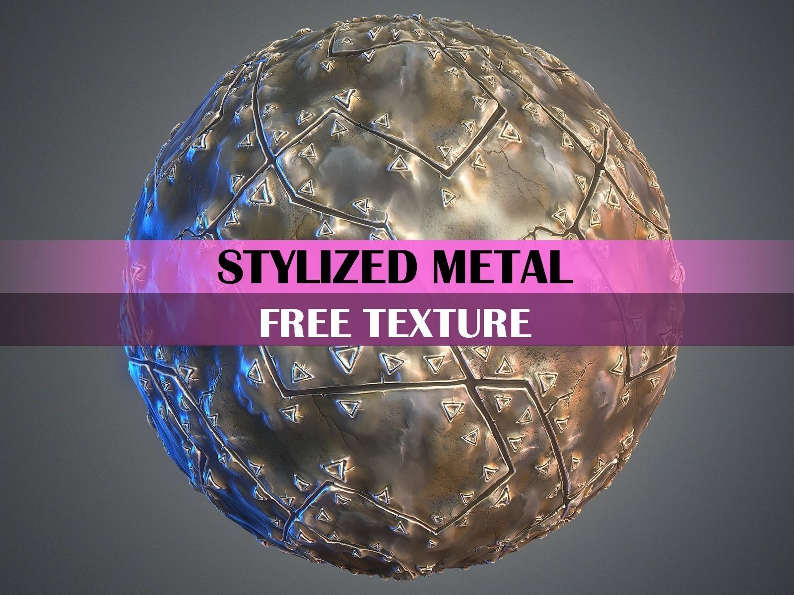 Stylized Metal Texture 3D asset | CGTrader