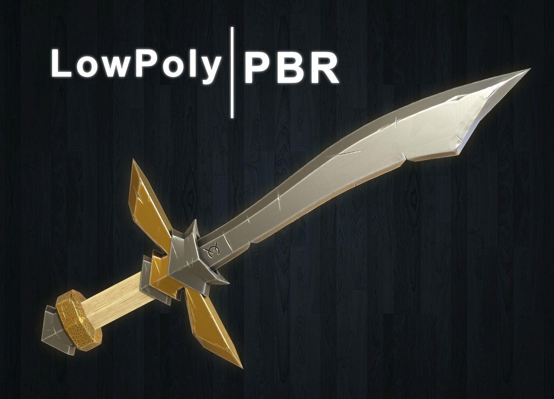 Stylized Sword Low Poly