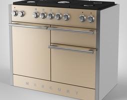 3d mercury gas range cooker