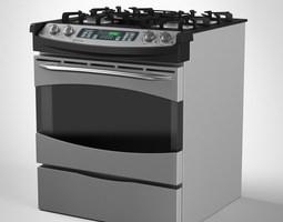 General Electric Gas Range Cooker 3D