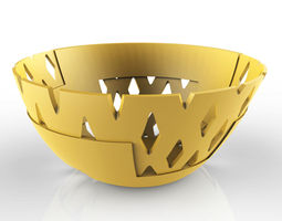 Rhomb perforated bowl 3D printable model