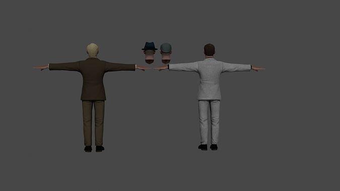 Detective Character Noir 3d model