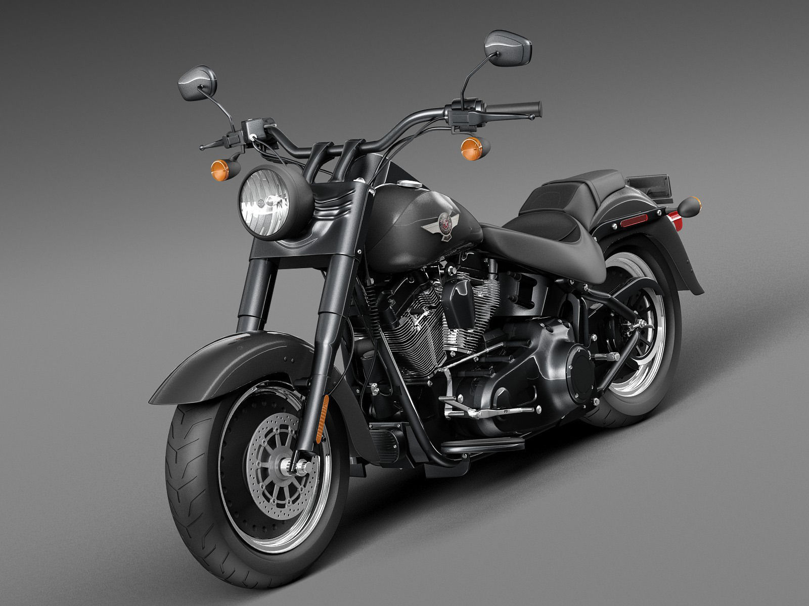 Harley Davidson Fatboy S Black Matt 2016