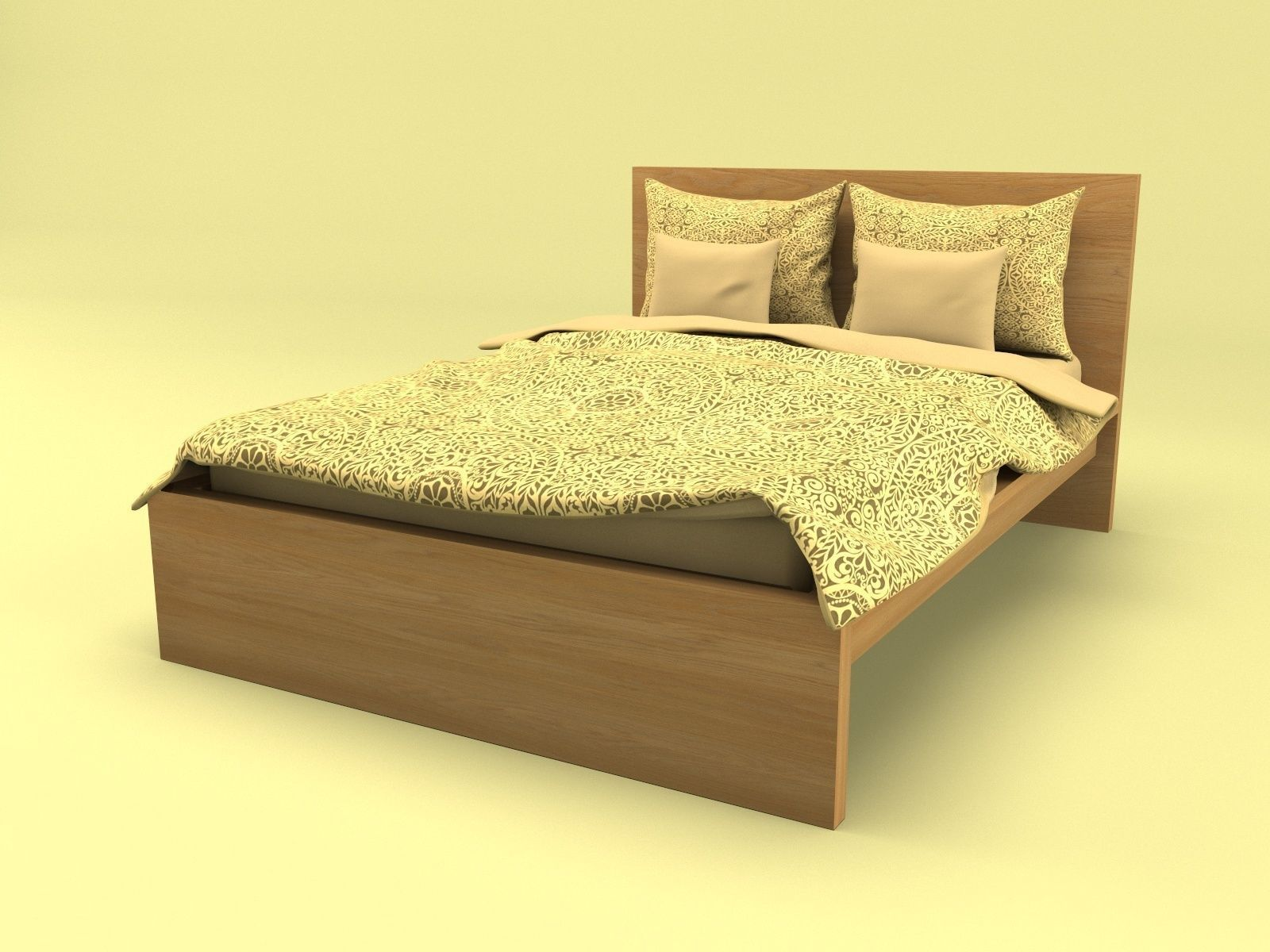 Ikea Malm Bed 3d Model Vr Ar Ready Cgtrader