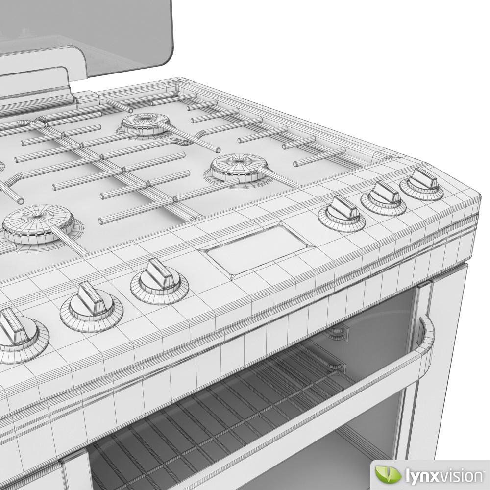Whirlpool Gas Cooker Free 3d Model Max Obj Fbx Cgtrader Com
