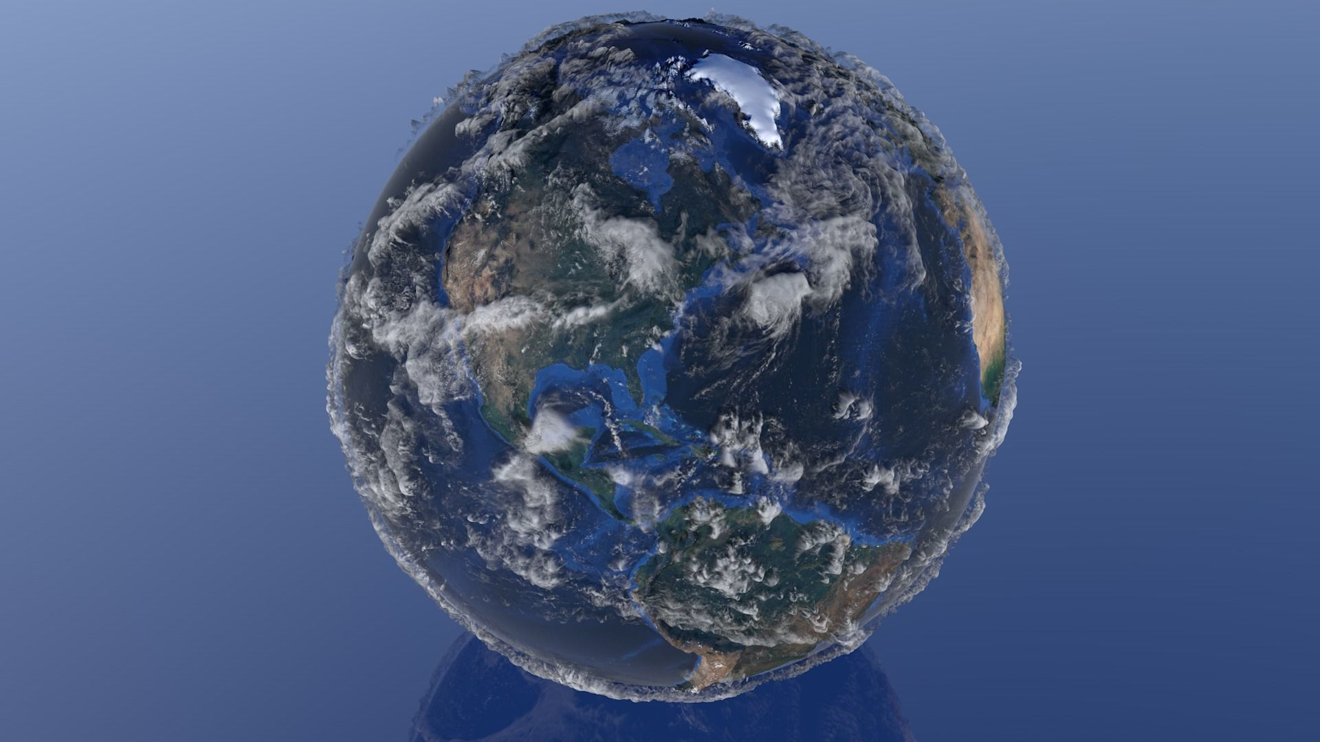 10K Relief Earth 3D Model - Bathymetry Texture