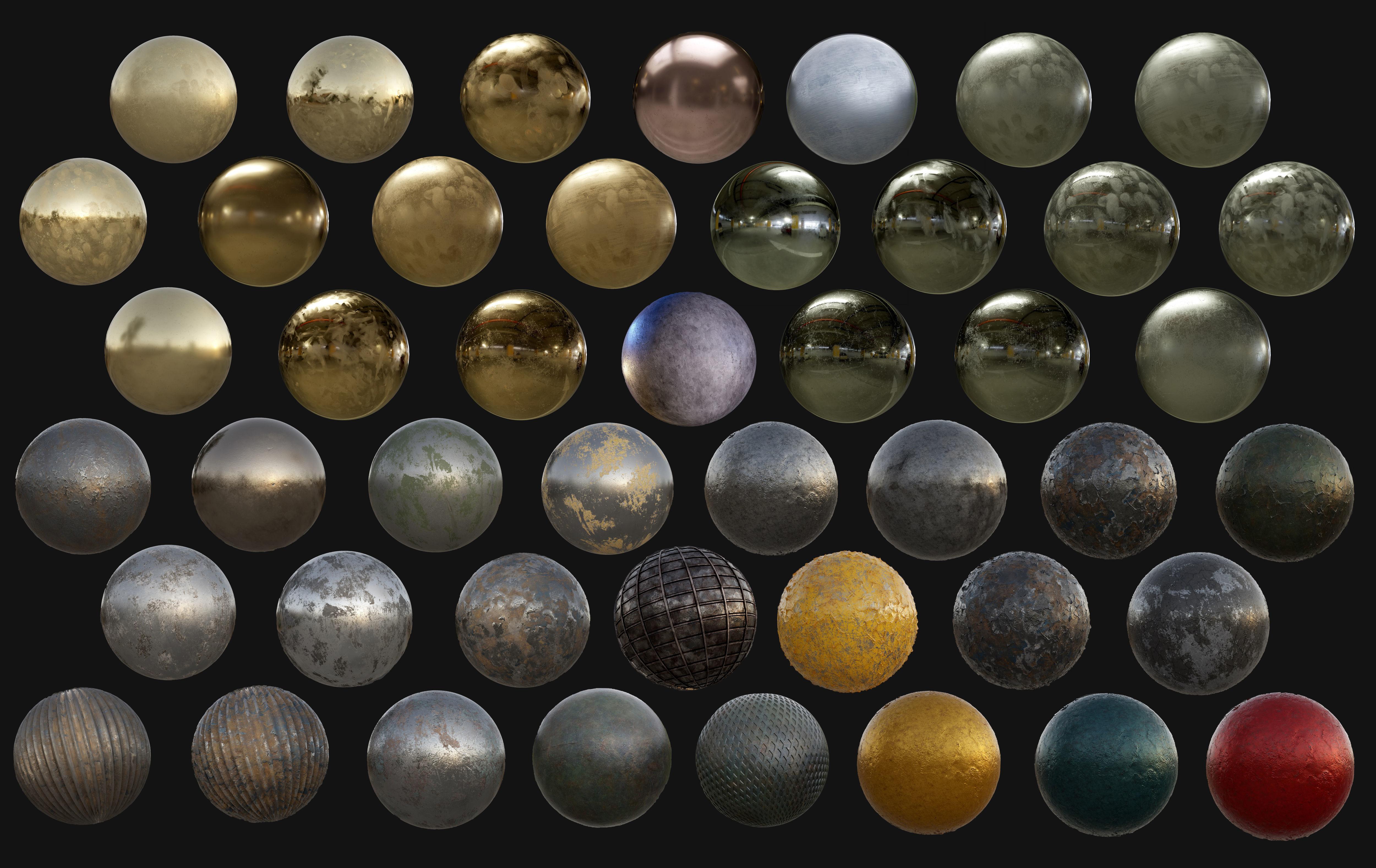 45 Metal Seamless PBR Textures