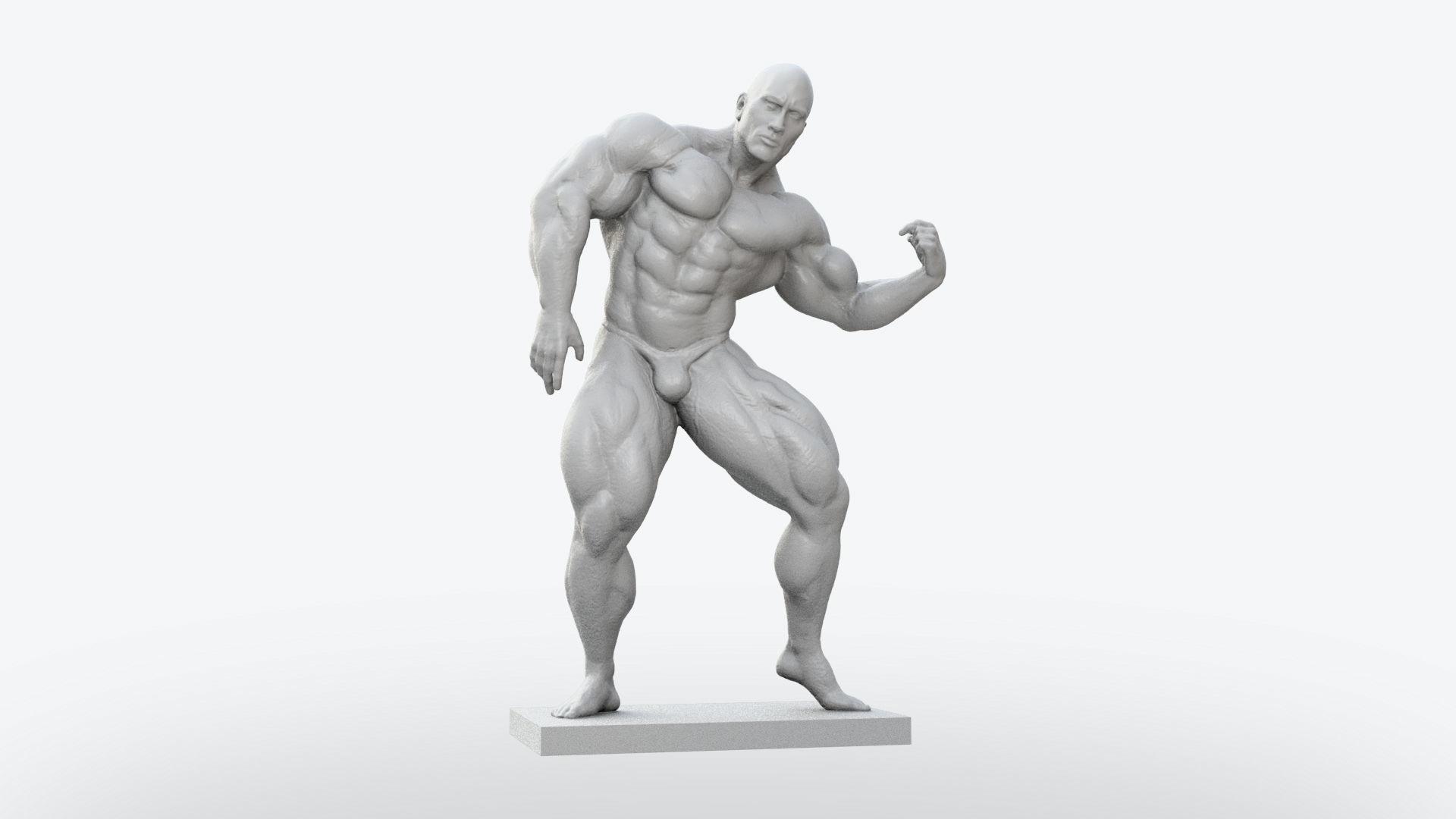 Body Builder Statue