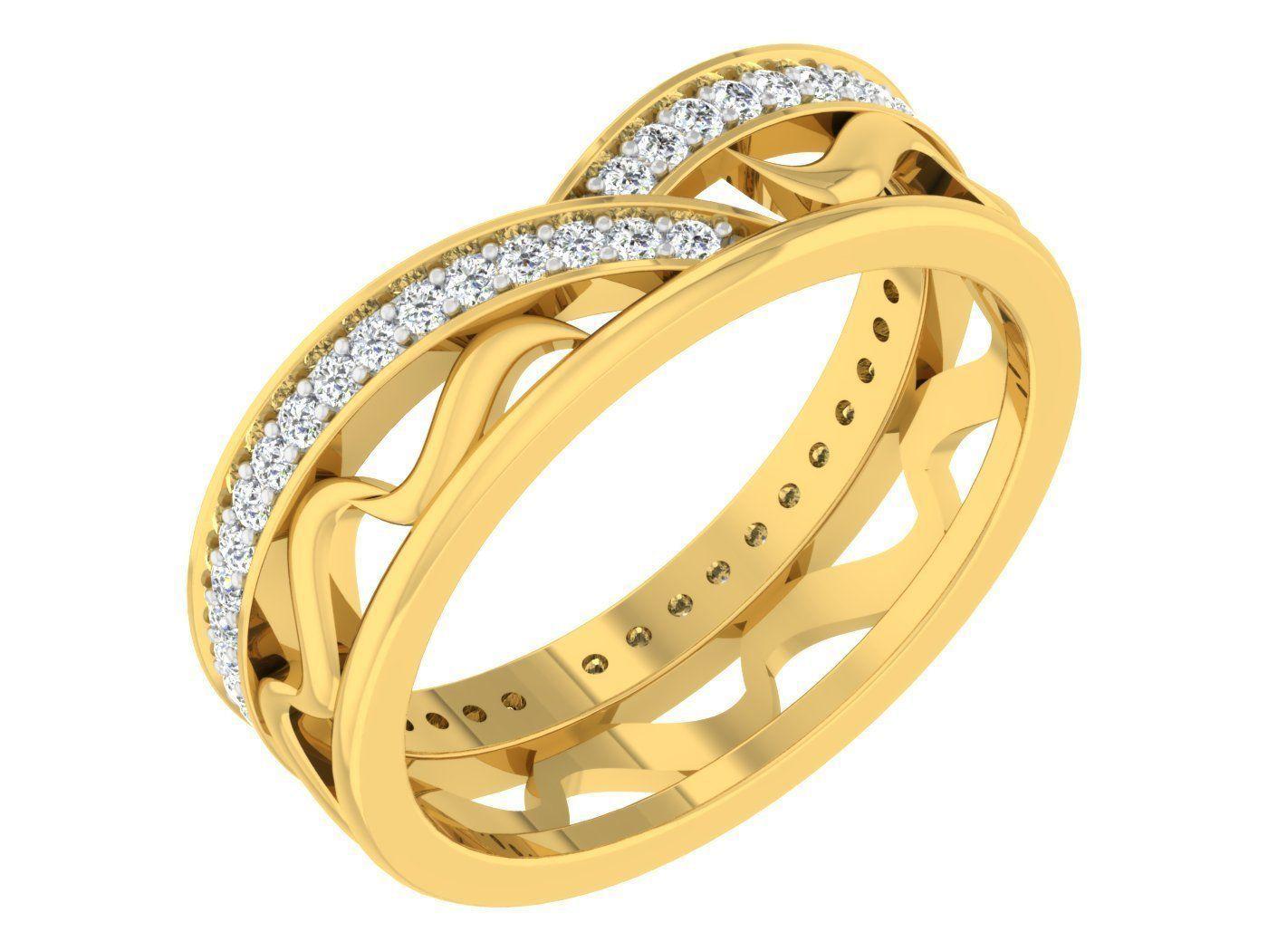 Women Band Ring 3dm stl render detail model view