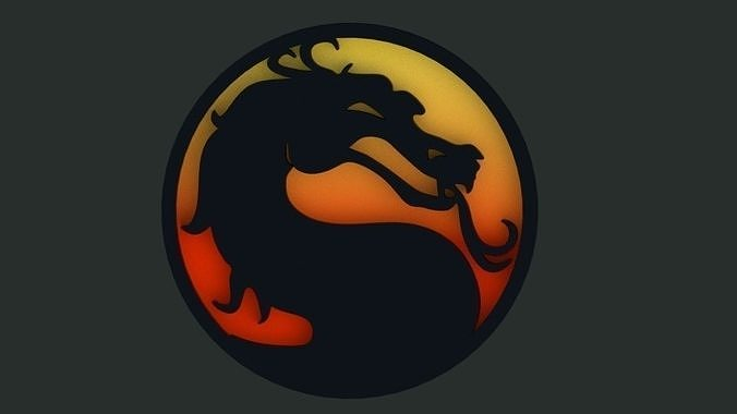 Mortal Kombat 3d Dragon Logo Medallion