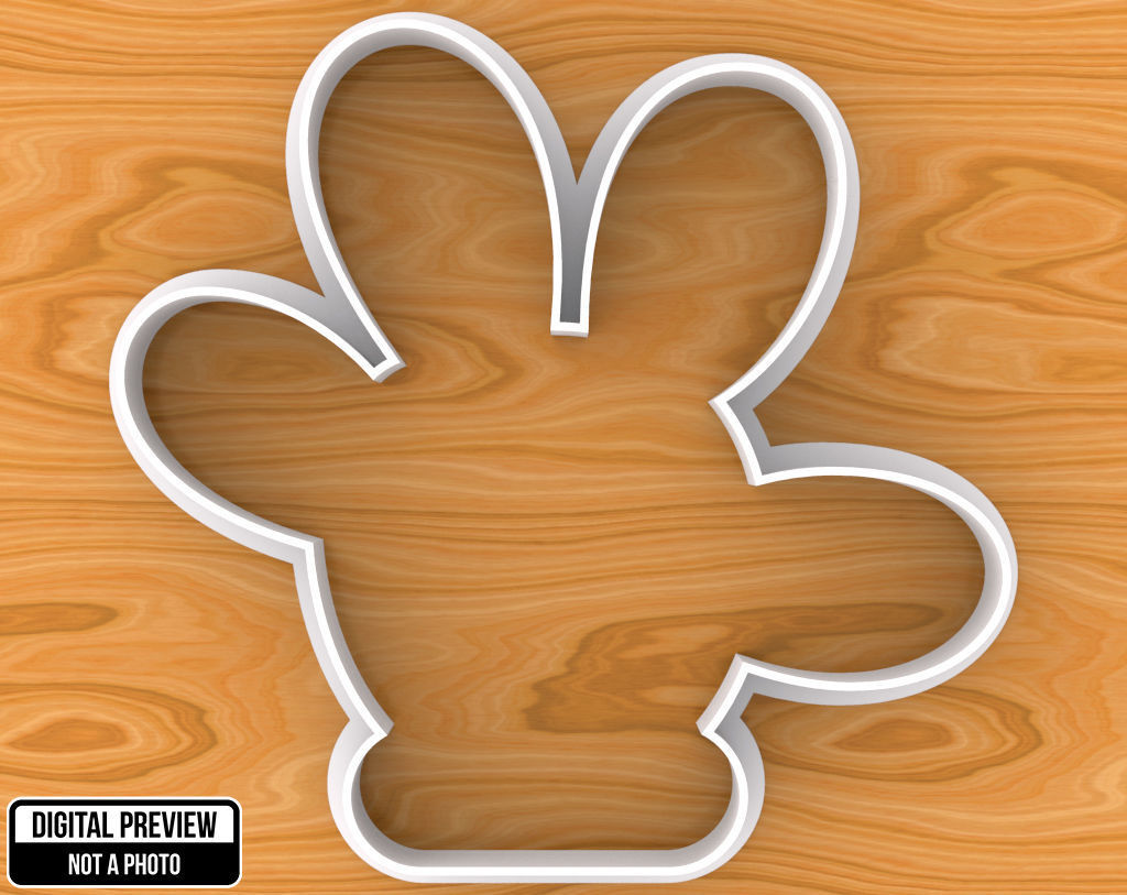 Mickey or Minnie Mouse Hand Cookie Cutter