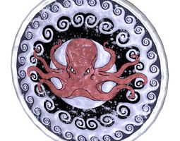 3D asset Octopus decorated shield