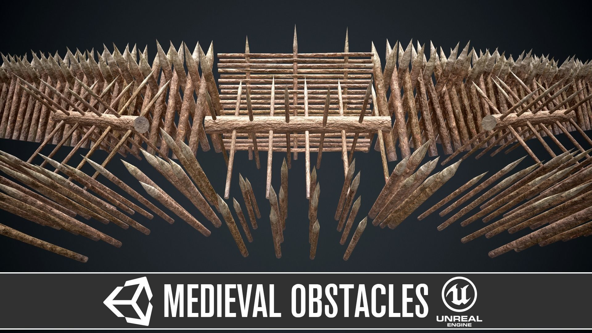 Modular castle wooden obstacles