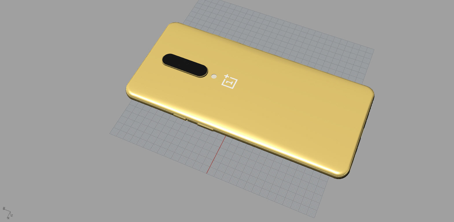 oneplus 7 pro gold 3D print model 3D model