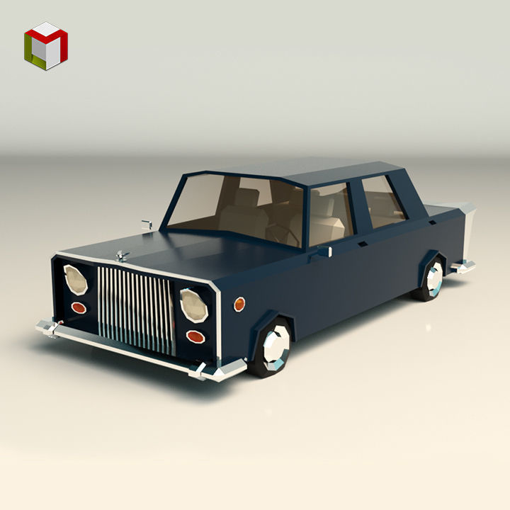 Low Poly Sedan Car 06