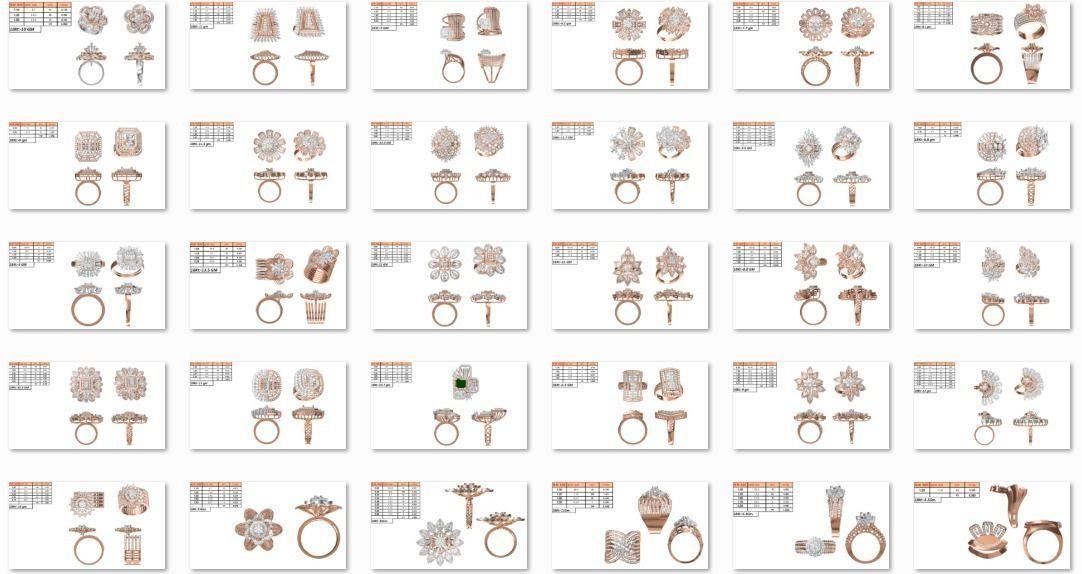150 Women  Ring jcd-Jewelcad   Bulk collection