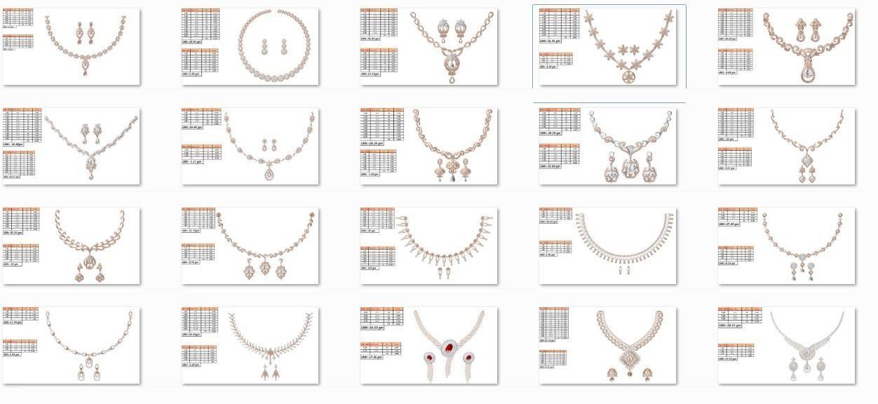 50 Women necklace-earrings set jcd render detail