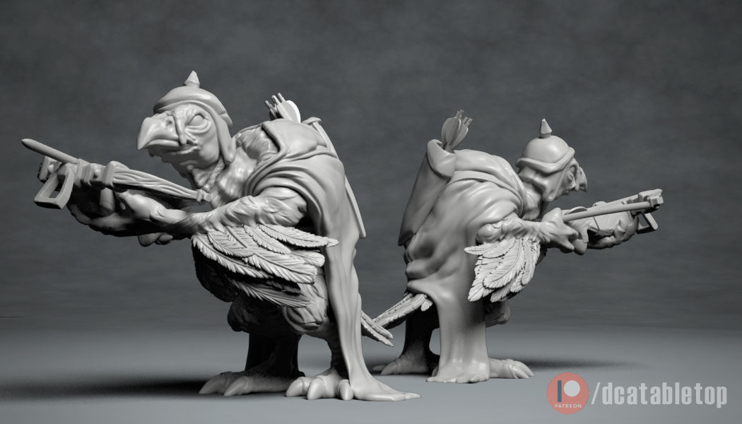 Vulture Archer - 3D printable creature
