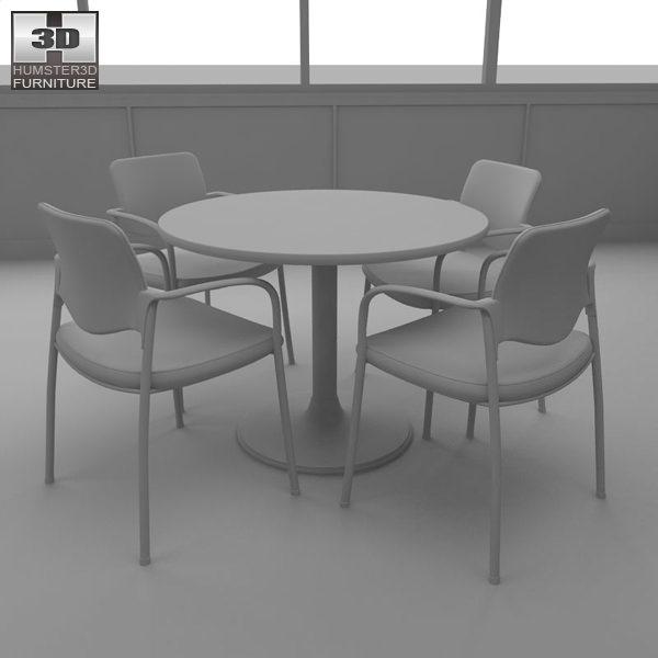 Restaurant Kitchen 3d Model 3d model dining room 04 set a fast food restaurant furniture vr