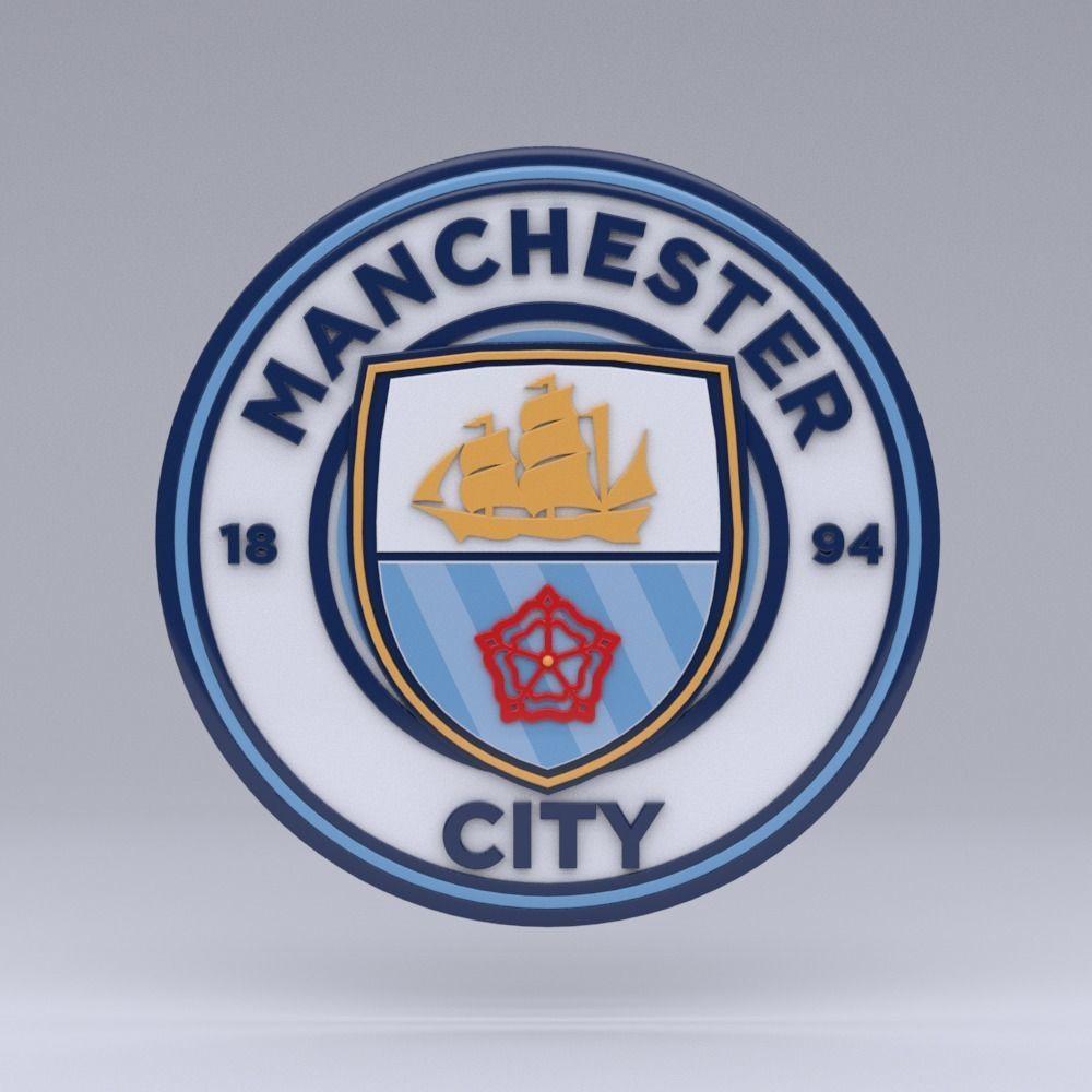 3d Model Manchester City Logo Cgtrader