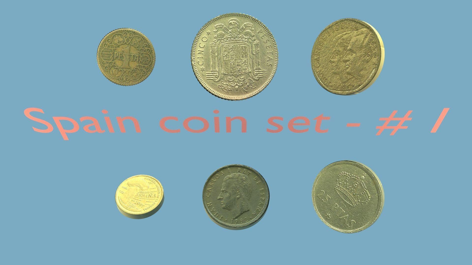 Spain coin set model - 1