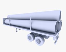 Truck Trailer 2 3D Model