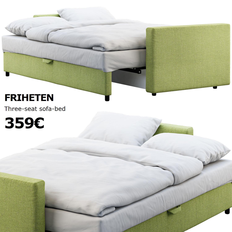 Sofa Friheten Ikea.Ikea Friheten Sofa Bed 3d Model